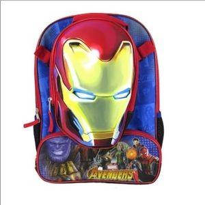 Marvel Avengers Iron Man Backpack Lunchbox